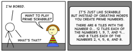From a comic about Prime Scrabble on Spiked Math.