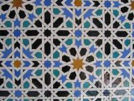 An Islamic tiling.