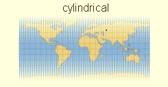 cylindrical map