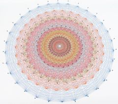 A model of E8 made of thread. E8 is the 8-dimensional mathematical structure that Nalini is studying.