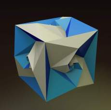 A cube with spidron faces.