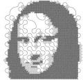 "A Truchet curve ""Mona Lisa"""
