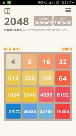 2048 Max Score