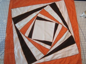 The first work in our gallery is by Evelyn Lamb. She made this quilt for her grandparents' 64th anniversary. Read more about it here and here!