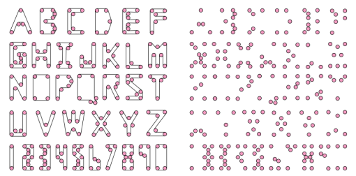 A Conveyor Belt Font by Erik and Martin Demaine