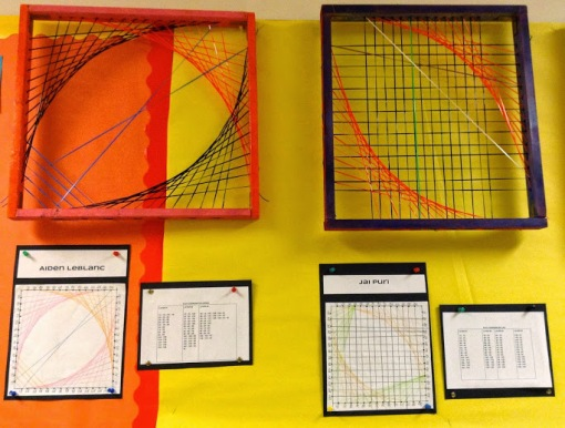 String art different direction footballs