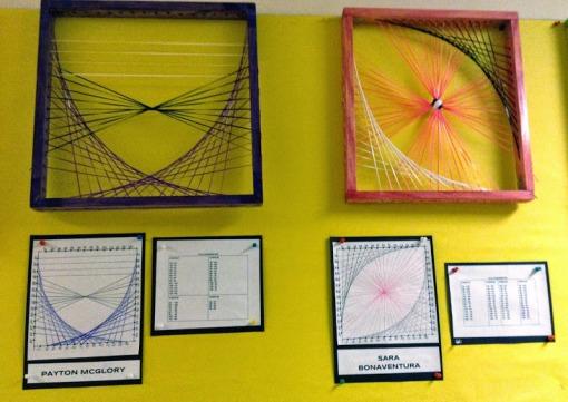 String art parabola