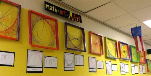 String art wall long