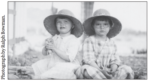 Julia and Constance as young girls.