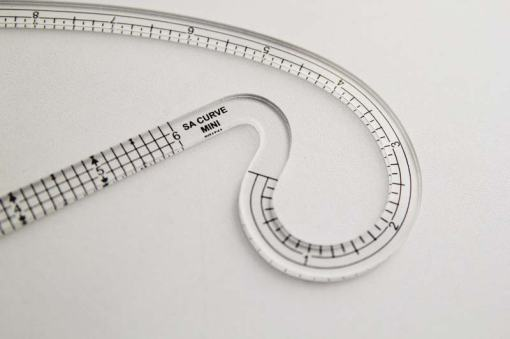 A seam allowance curve ruler.
