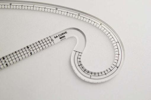 A seam allowance curve ruler.